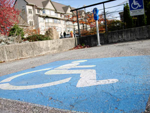 Handicapped parking spot